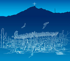 Merry Christmas from Ajo, Arizona 2018 by Hop41