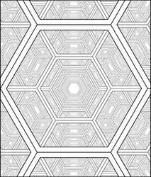 Hexagon Harmonic Perspective Drawing