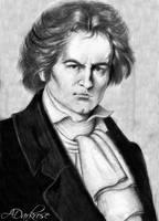 Ludwig van Beethoven by ADarkrose