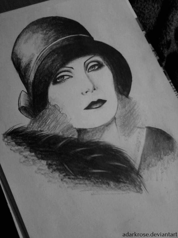 Greta Garbo by ADarkrose