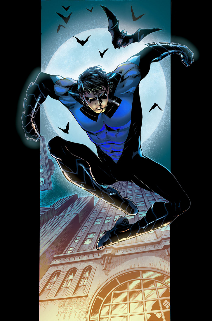 New 52 Nightwing recolor by rxlthunder on DeviantArt