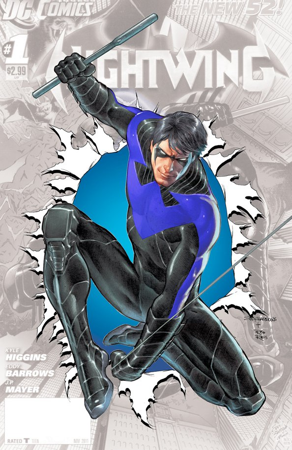 Nightwing #0 in blue by rxlthunder on DeviantArt