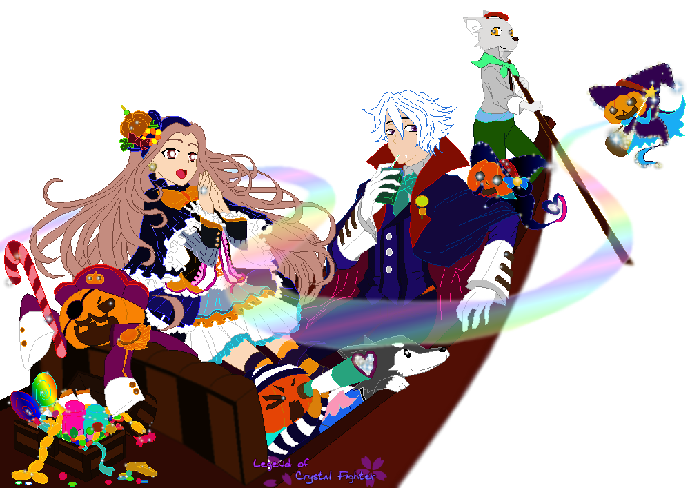 Sameera and Fynn [Halloween] by Sam83Laley