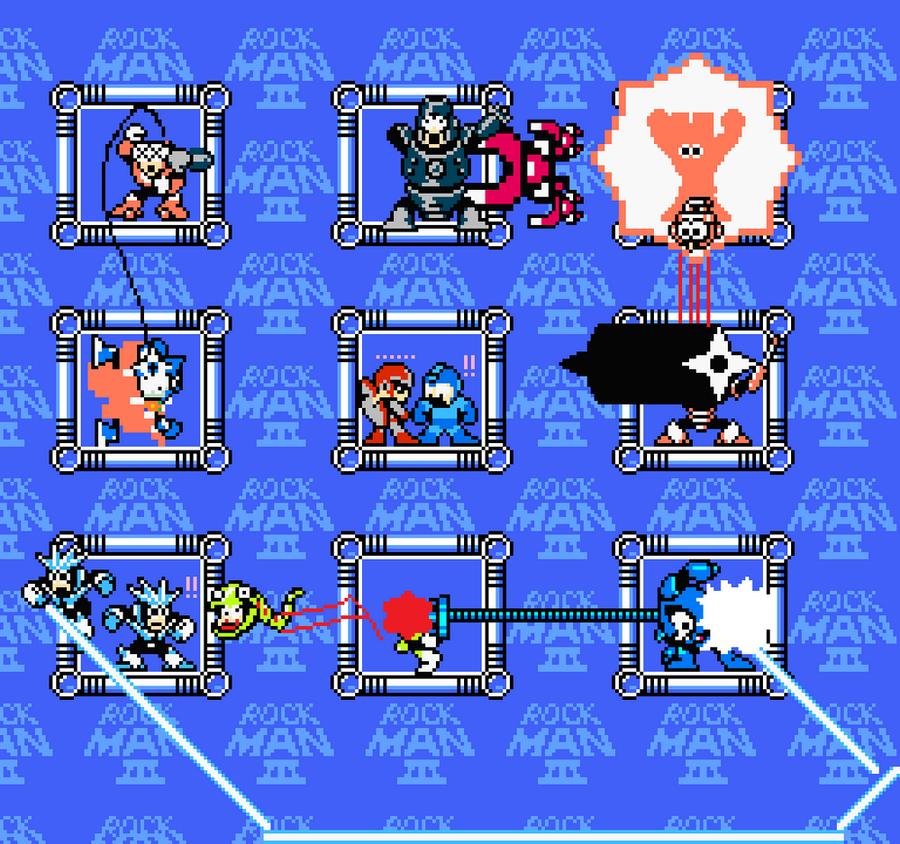 megaman 3 boss weaknesses by jmk575
