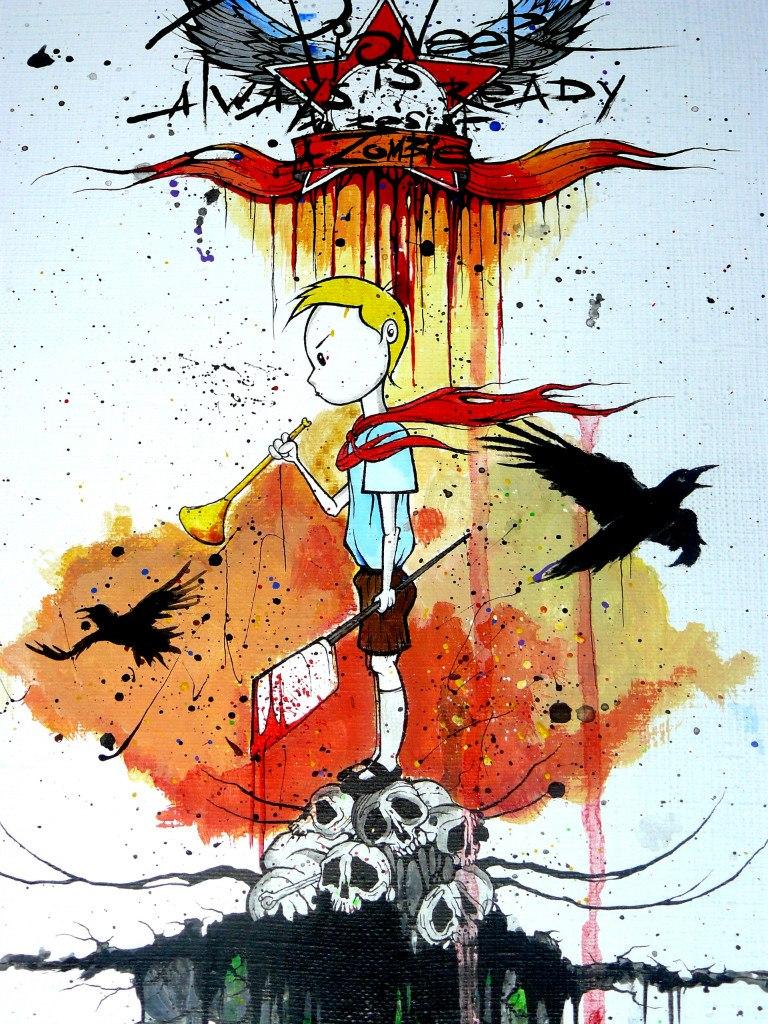 Pioneer vs Zombie by Pioneer-Art