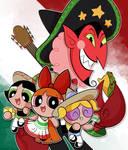 Powerpuff girls (HIM) fanart/ Mexican