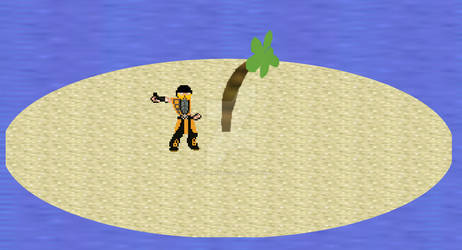 Scorpion on a deserted island taking a selfie