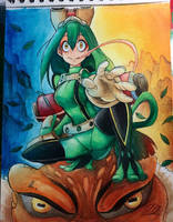 Tsuyu x Narutos Sage Mode !  by Dipoart