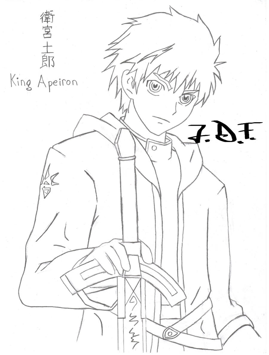 emiya shirou king apeiron lineart by jamesdfawkes on