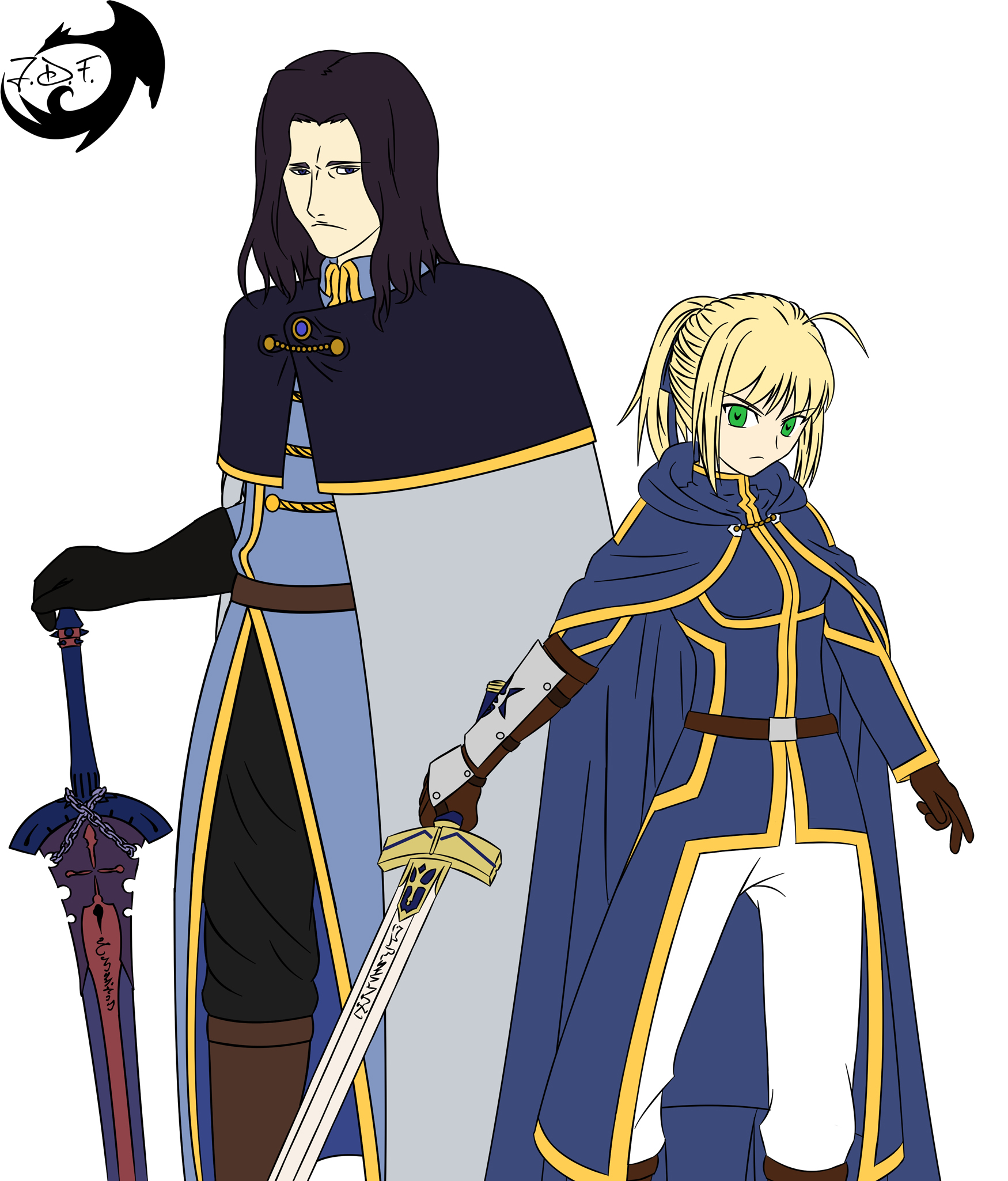 two knights flat color by jamesdfawkes on deviantart