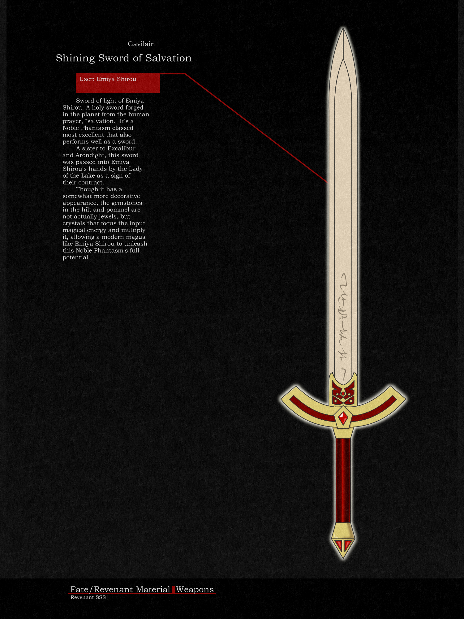fate revenant sword by jamesdfawkes on deviantart