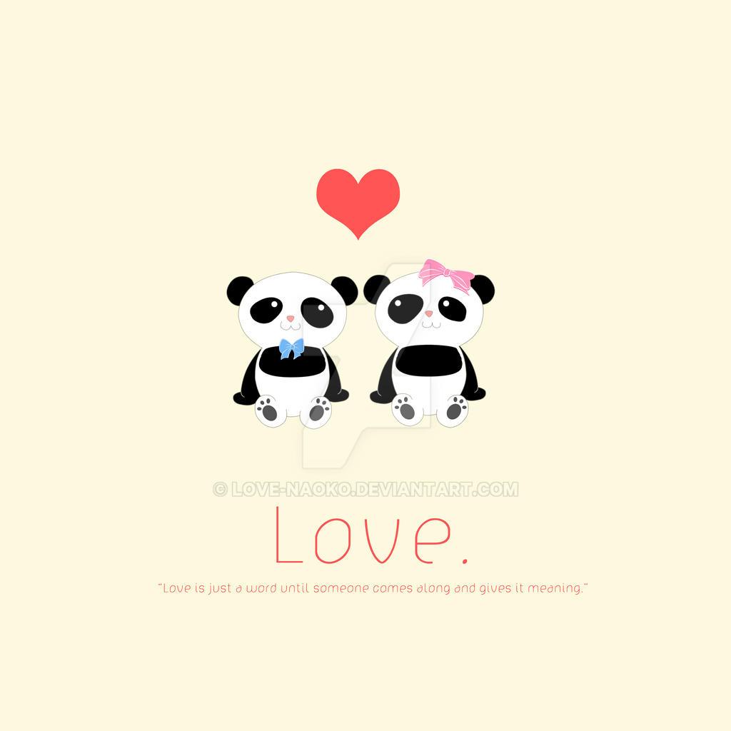 Http Love Naoko Deviantart Com Art Panda Love 153414949