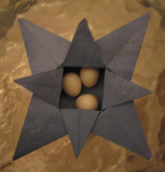 Origami Box with Eggs by nullalux