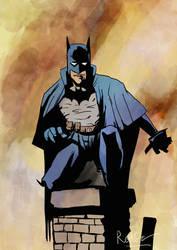 Mignola's study : The Batman by RedGeOrb