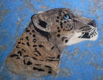 Needle felted snow leopard - 2D (2) by zoofelted