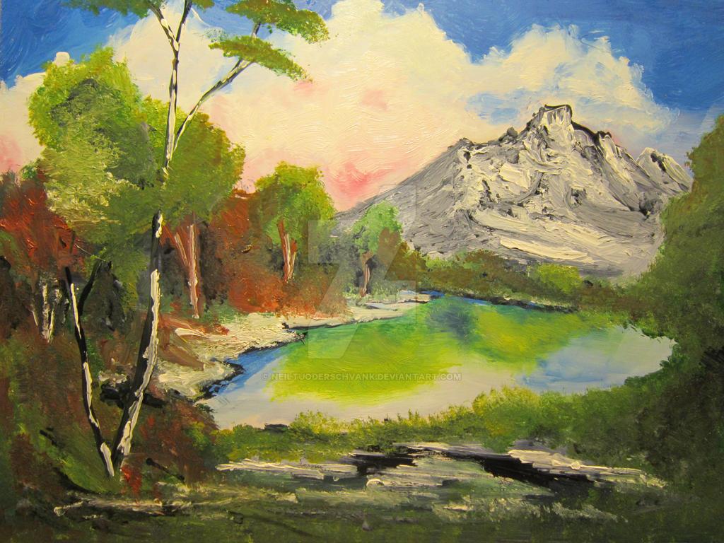 Bob Ross Landscape Copy (in his style) by NeilTuOderschvank