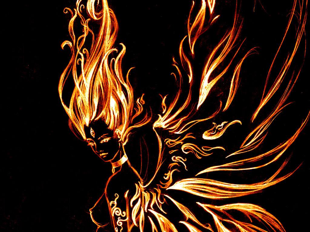 Fire Goddess Gerda by doughnut-hole