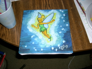 Tinkerbell Painting by AnimeSnowBunny on DeviantArt