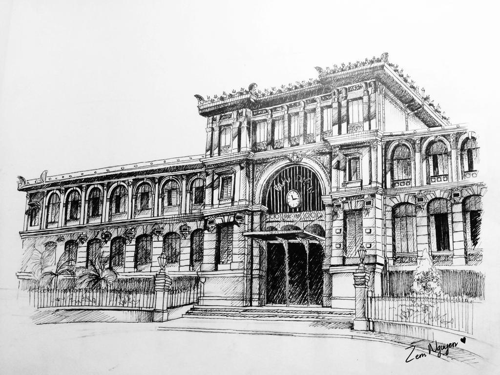 Saigon Central Post Office by ZemNguyen