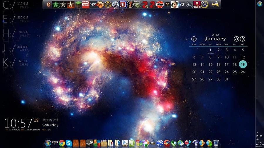 Nebula desktop customization. by Swietlix