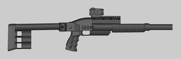 Metal storm shotgun by PatTheGunartist