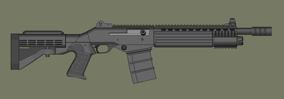 Tactical shotgun by PatTheGunartist