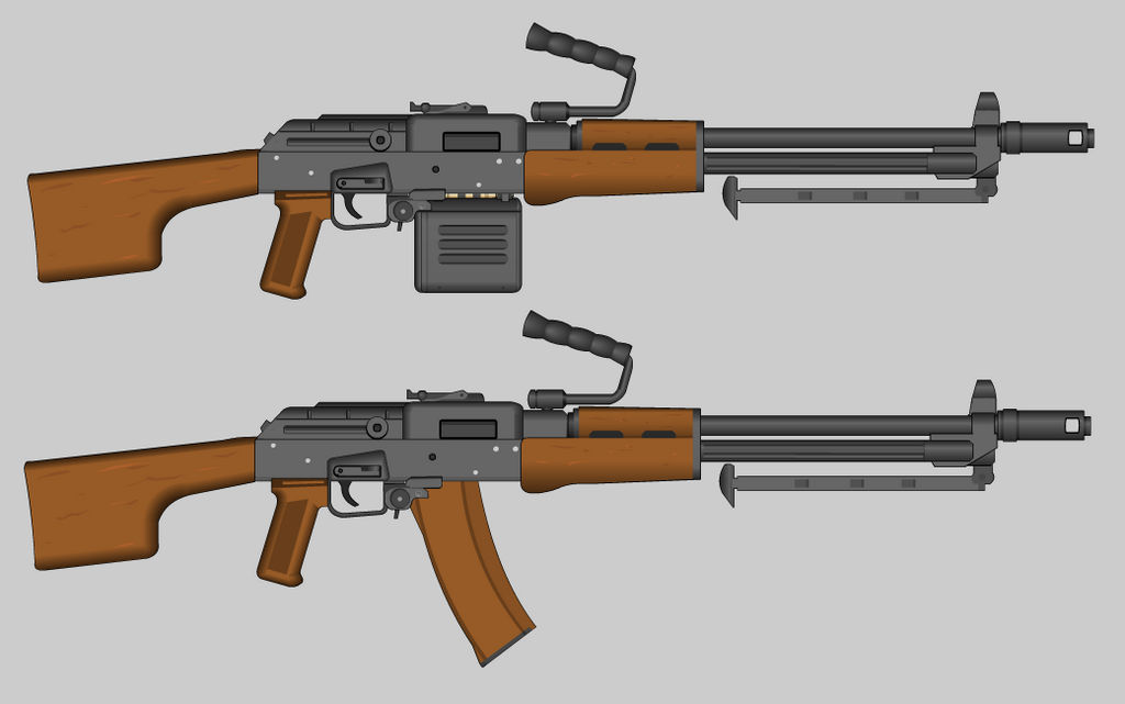 Belt Fed AK SAW by PatTheGunartist