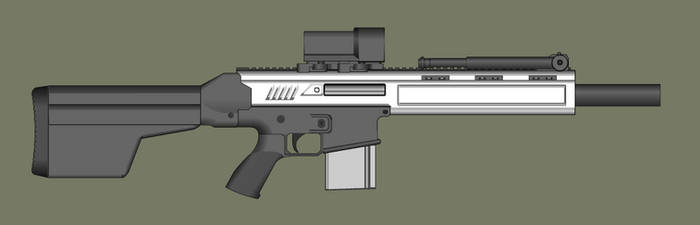 Whitout Marksman Rifle by PatTheGunartist