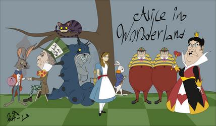 Alice in Wonderland Characters by Kurvos