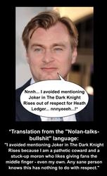 Nolan talks Bullshit by Kurvos