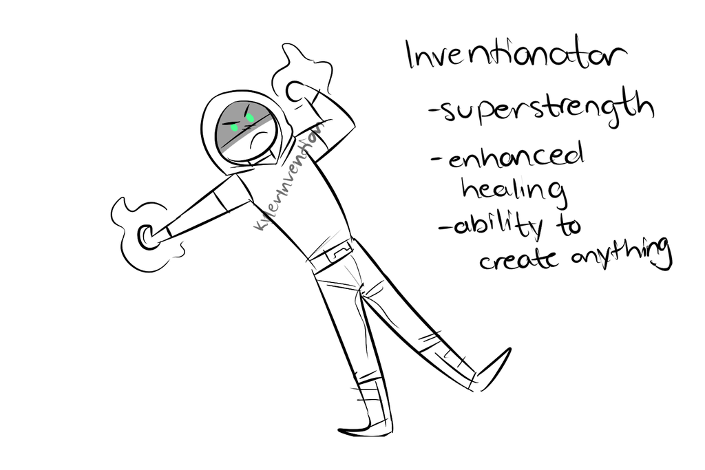 The Inventionator Powers (Gary Stue Version) by KylerInvention