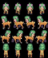 Charset Dryad [RPG Maker XP] by Dahakinou