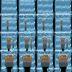 Charset Porte cascade [RPG Maker XP] by Dahakinou