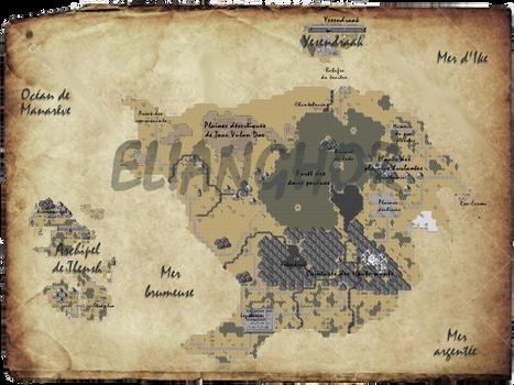 Worldmap of Elianghor [RPG Maker XP] - 2020