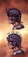 Helmet Concepts for Centurion Warrior