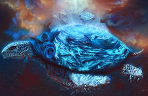 Sea Turtles Soaring by ArtofStreet