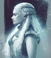 Daenerys Targaryen - Side Profile by ArtofStreet