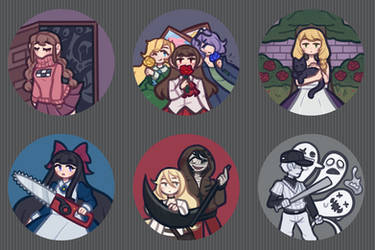 Rpg maker horror game buttons! by DrFrogPhD