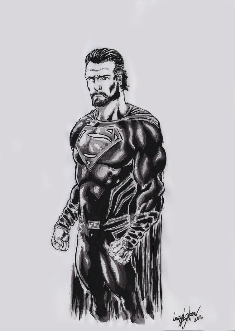 Superman Black Suit by LucaNnoCorE on DeviantArt