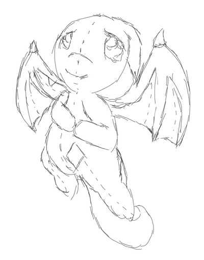 Day 7: Plushie Shoyru Sketch by Tinker-Jet