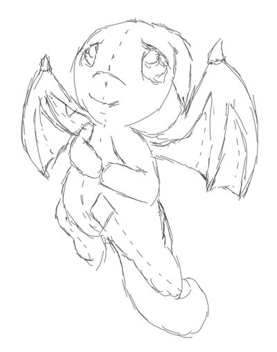 Day 7: Plushie Shoyru Sketch by Tinker-Jet