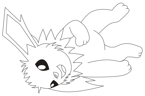 Jolteon Line Art by Tinker-Jet