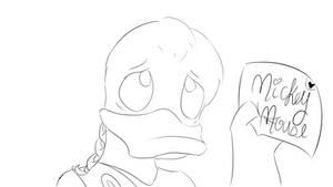 Day 8: Phoenix 'Phooey' Duck Sketch by Tinker-Jet