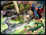 Marvel vs DC commission color