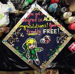 Toon Link Graduation Cap