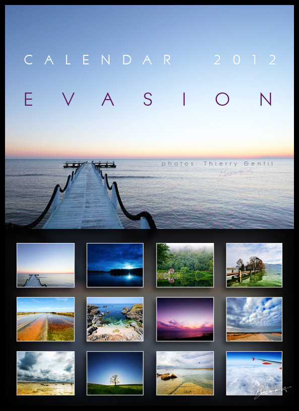 calendar 2012 : E_V_A_S_I_O_N by bosniak