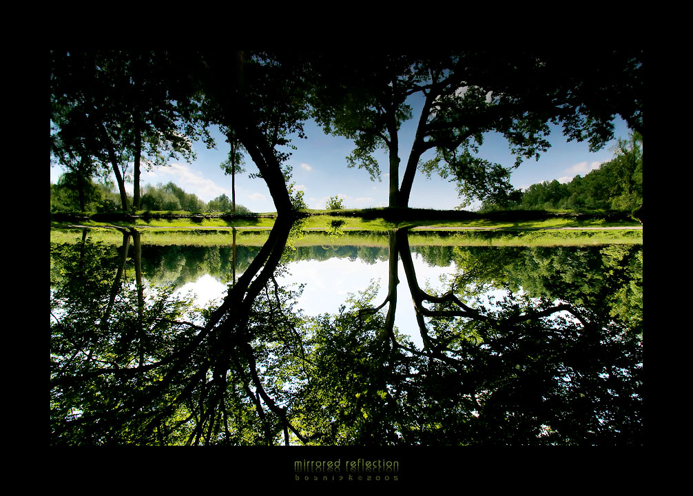 mirrored reflection