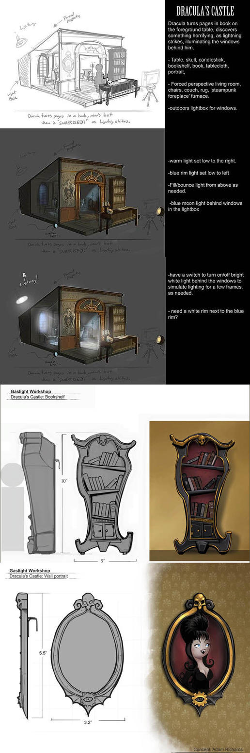 Gaslight workshop: Dracula's castle concepts by AdamRichards