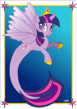 Twilight Sparkle hippocampus- postcard