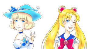 Majokko Yuki and Sailor Moon